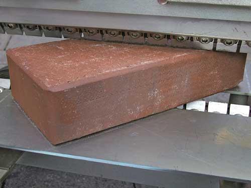 Blockcutter cutting actual brick paving tools