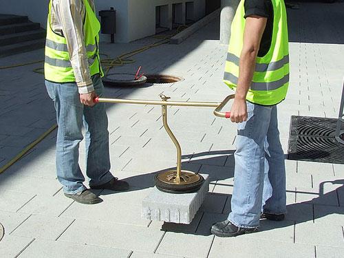 Vacuum-Handy lift large concrete paver