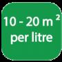 Coverage per litre Logo