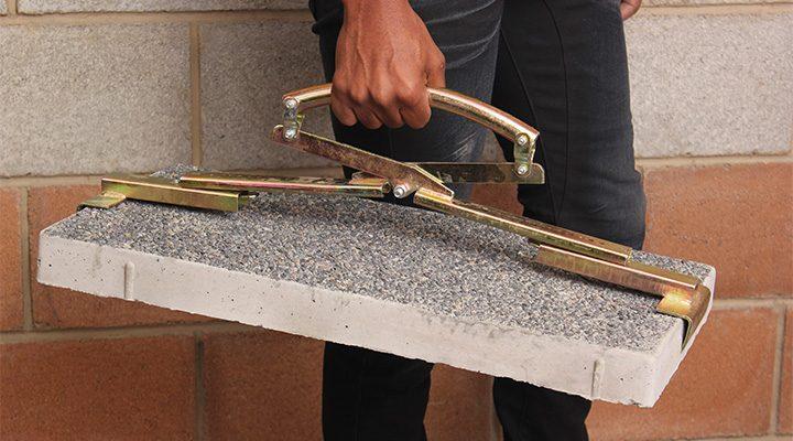 Shows slab handle in function - Paving Slab Handle